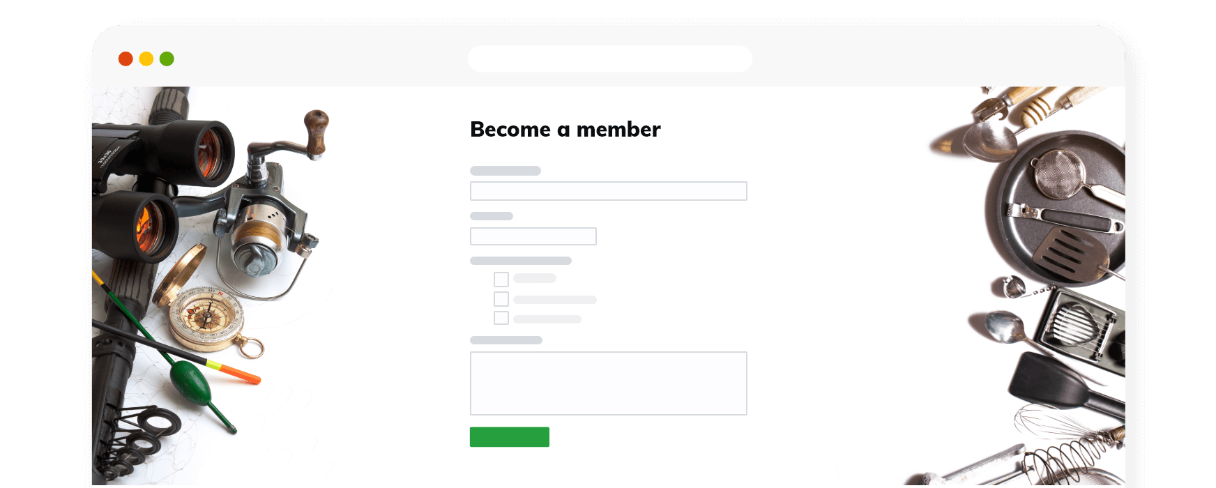 Sign up page illustration